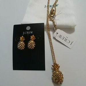 NWT J. Crew Factory Pineapple Earrings & Necklace